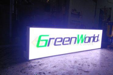 Hộp đèn mica gắn chữ nổi mica gắn đèn led module cụm 3 bóng samsung CTY GreenWorld 252 Nguyễn Văn Hưởng Q.2